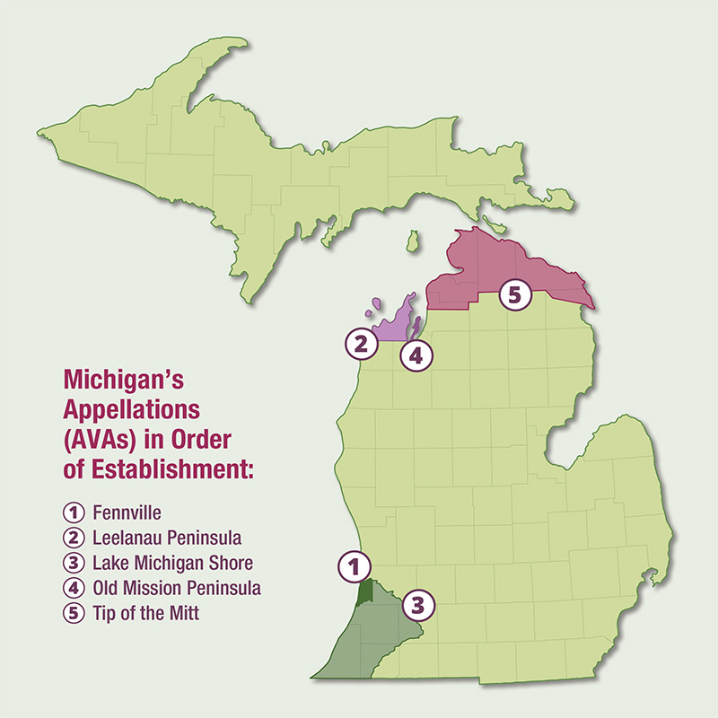 Michigan American Viticultural Areas